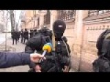 Kiev - Armed Police Operation Against Protesters Filmed From Police Side