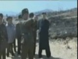 Kim Teaches Soldiers How To Shoot Pistol