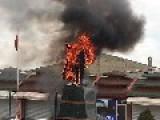 Kemal Statue On Fire, Van
