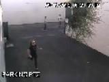 Karma: Graffiti Punk EATS SHIT On Chain Fence, Gets It