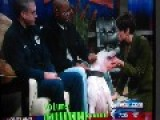Kyle Dyer Gets Bit By A Dog On A TV Show