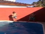 Kid Can't Backflip Into Pool
