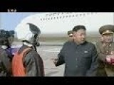 Kim Jong-un Watches Air Combat Contest With His Wife