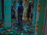 Kid Runs Headfirst Into Mirror Maze