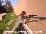 Kurdish Sniper Shoots At ISIL Positions