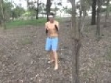 Kicking Down A Tree! -Martial Artist Vs White Guy