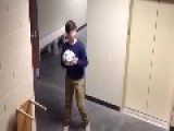 Kid Breaks Exit Sign With Soccer Ball