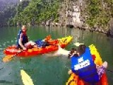 Kayaker Gets Shorts Caught On Boat