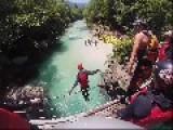 Kayaking On Beautiful Soca River In Slovenia