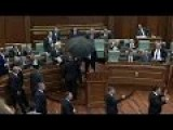 Kosovo Prime Minister Pelted With Eggs While Addressing Parliament