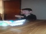 Kid Cries Over Boroken Egg