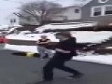 Knocked Out In Amateur Street Fight