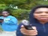Kids Play With Guns On The Backroad
