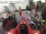 Kamui Kobayashi Crashes Ferrari F60 In Moscow - Onboard Video
