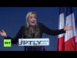Le Pen Of France Calls EU Unemployment Factory