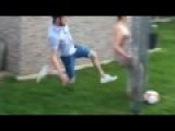Lad Tackle Girlfriend From Behind
