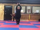 Little Boy Interrupts Martial Arts Training