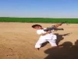 Little Faisal Fires Of An AK-47