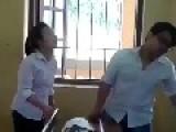 Little Coward Of A Boy Attacking A Girl In School