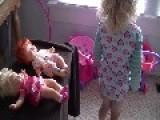Little Girl Names Doll Strawberry Sh** Cake