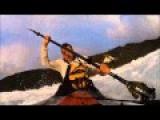Launching A Fishing Kayak Thru The Surf