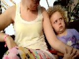 Little Girl Is Less Than Impressed With Amusement Ride