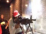 LeBron James Shoots A Machine Gun