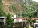 Landslide Mogote Cause By Rain In Puerto Rico