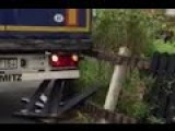 Lorry Driver's Epic Fail As He Reverses Into Garden Fence