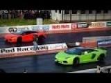 Lamborghini Aventador Vs Lamborghini Aventador Roadster Drag Race