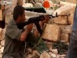 Libyan Fighter Double Close Call With Sniper