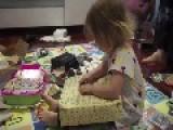 Little Girl Overjoyed At Frozen Christmas Present