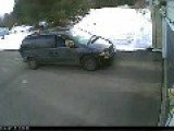 Lazy USPS Driver Throws Heavy Box With Hard Drive Against Garage Door