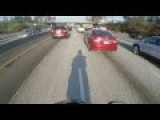 Lane Splitting Twat Gets Rewarded