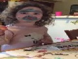 Little Girl Paints Face Like A Hippo