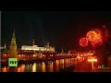 Live: Victory Day In Russia - About 10,000 Fireworks Illuminate The Sky Of Moscow