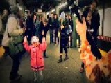 Little Girl Dancing NYC Subway