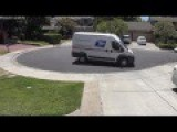 Lazy USPS Person Caught On Camera