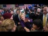 Live - Clinton Campaigns In New Hampshire