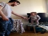 Little Girl Has A Stand Off With Her Daddy
