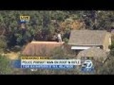 LA Gunman LAPD Police Chase Rifleman On Roof Home After Car Chase Hollywood Police Chase GTA