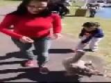 Lady Got Surprise By Duck