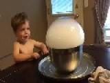 Little Boy Wants To Pop Smoke Bubble