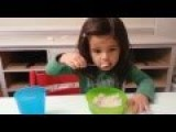 Little Girl Suffers Her First Brain Freeze