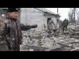 Lugansk, Pervomaysk Region - Ukrainian Army Destroyed Many Civilian Houses 24.11.2014