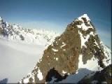 Lucky Guy Survives High Fall When Skiing