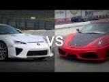 Lexus LFA Vs Ferrari F430 Drag Race