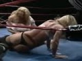 Lesbian Wrestlers In The Squared Circle Ripping Clothes Off