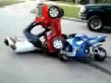 Little Jeep Vs Mini Motorcycle