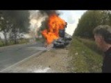 Lada Driver Burned Alive In An Accident With 9 Cars